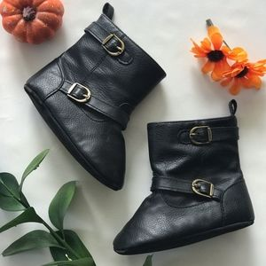 Other - Black Faux Leather Boots